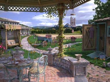 Scenes for hidden object game