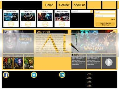 Games Store Template