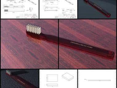 Toothbrush Design & Drawing
