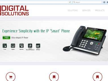 Website of the Digital Solutions Company