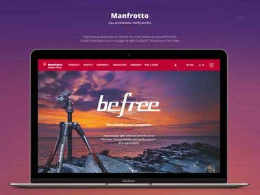 Manfrotto Landing page