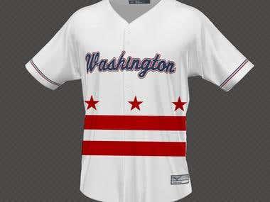 Jersey design Washington (front)