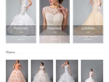 Shop of wedding dresses