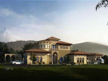 Mediteranean Villa Model & Rendering