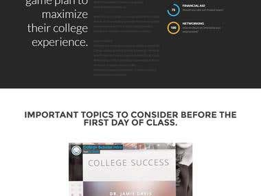 College Success Predictor website using java