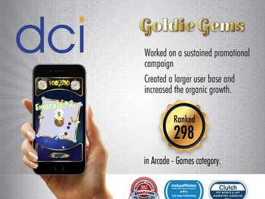 Goldie Gems App Marketing Project.