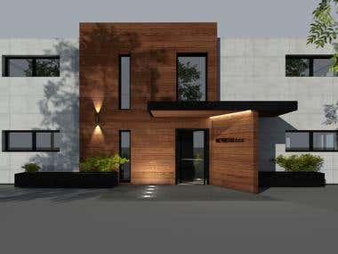 Facade design - Wetricom company