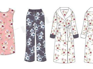 Sleepwear and Casual Wear Garments(Female)