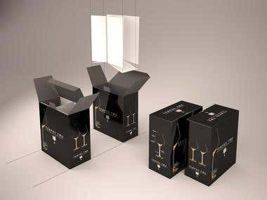 Product Box Packaging 2d/3d CAD design