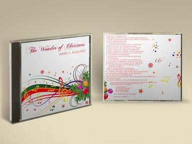 "JOHN T. AVELLINO ""THE WONDER OF CHRISTMAS"" ALBUM layout/pkg"