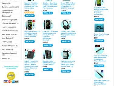 Example Web Store Shopping Cart