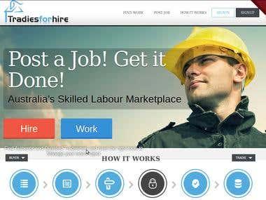 SEO project - tradiesforhire.com.au - Google.com.au