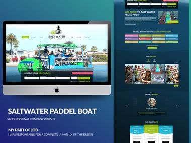 Salt water Paddle Boat design.