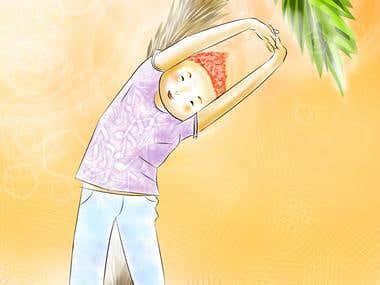 ILLUSTRATIONS FOR CHILDREN YOGA BOOK