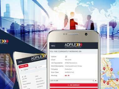 Adfile job management App