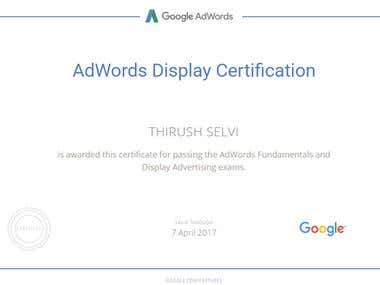 Google AdWords Display Ads Certified Professionals