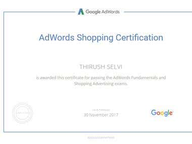 Google Shopping Advertising Certified Professionals