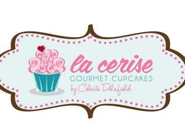 Cupcake business logo