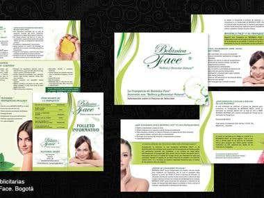 Piezas publicitarias. Botanica Face. Bogotá