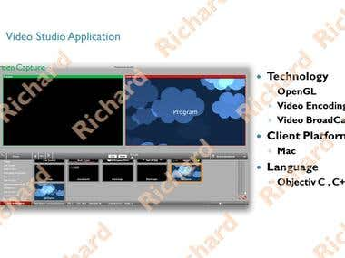 Mac Video Studio Application