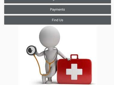 Android app for Health care institution