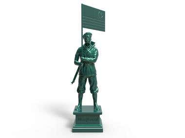 Statue for 3d print