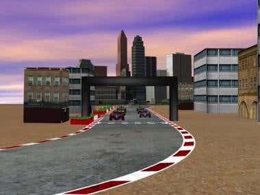 F1 Car race animation