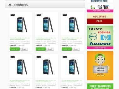 Website Design For Mobile site.