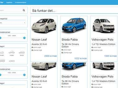 great php project , Car Filter E-commerce