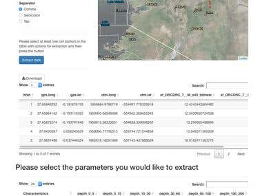 Shiny application for spatial data extraction
