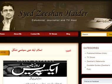 Syed Zeeshan Haider Freelance Journalist Columnist and Write