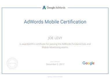 AdWords Mobile Certifie