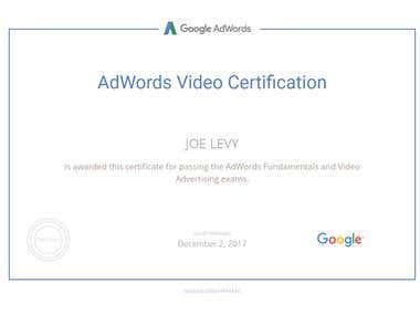 AdWords Video Certified
