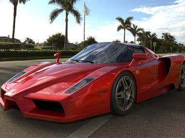 3D modelling and visualization of Ferrari Enzo