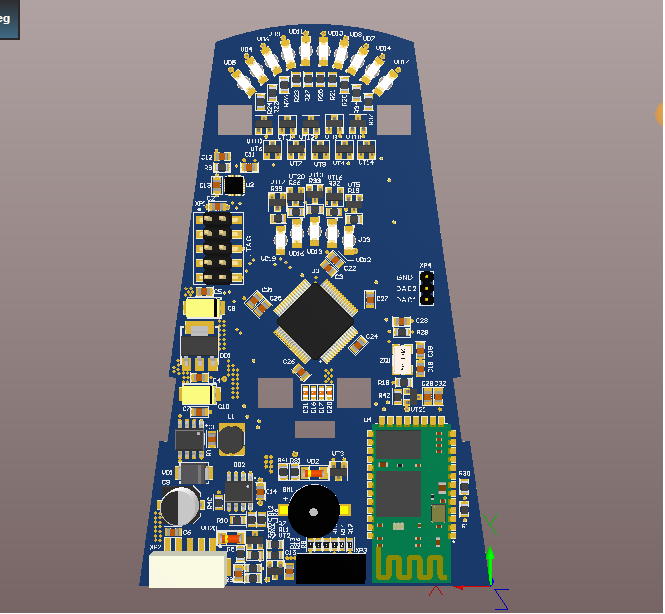 Wheelchair controller PCB v2 base on STM32F405 + Bluetooth