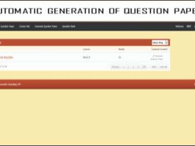 Automated Question Paper Generation
