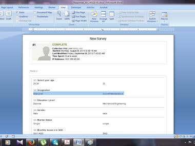 PDF conversion to Word