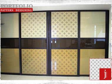 PATTERN DESIGNING FOR DOOR (VINYLE STCIKER)