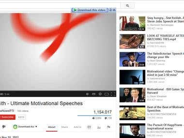Web research for motivational videos