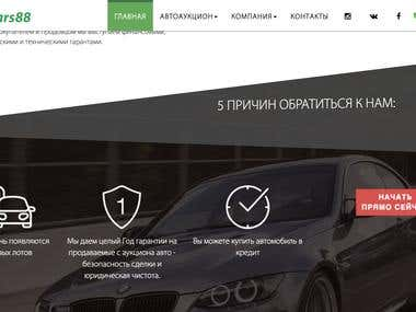 Auto auction web site