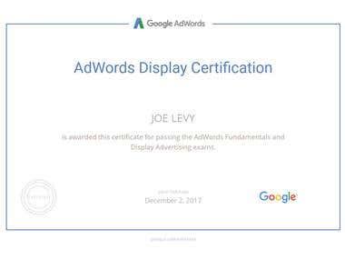 AdWords Display Certified