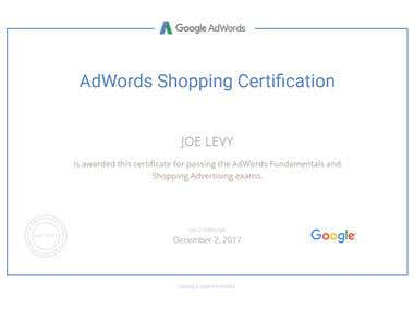 AdWords Shopping Certified