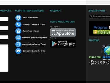 Site Personalizado com versão mobile