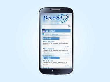 Propuesta diseño sitio web Deceval