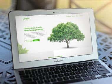 LivEco Website Homepage Design