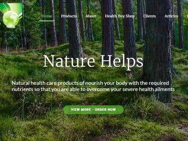 Site for natural medicine shop - http://herbalmedicin.com/