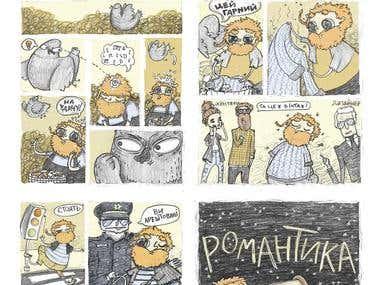 """""""Optimistic bum"""" comic"""