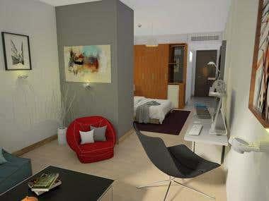 Mercure Hotel Mock-Up Room