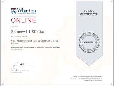 Marketing Related Certificates Achieved