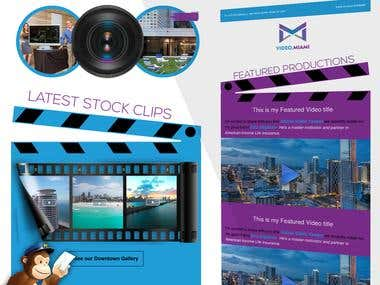 Mailchimp Custom Email Template for Video.miami